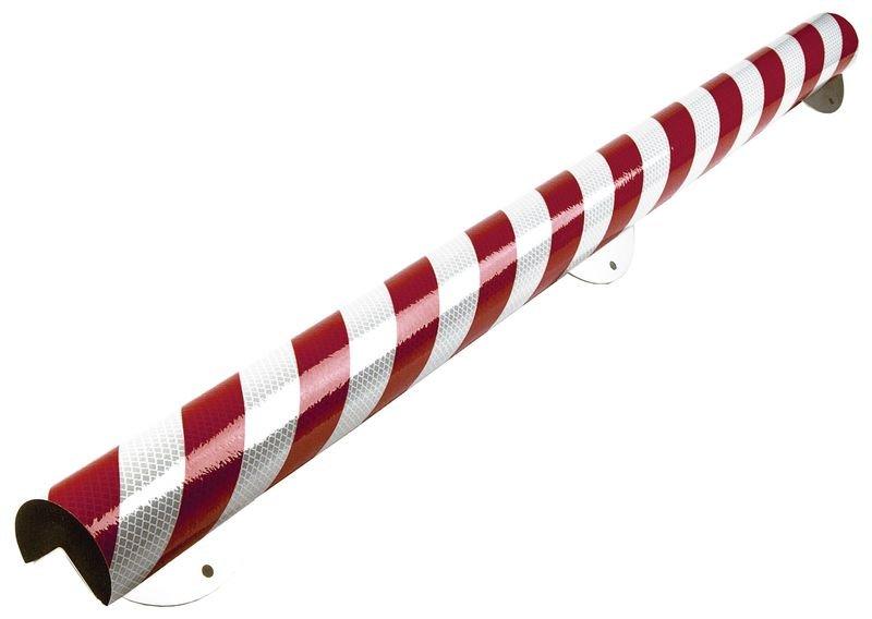 Profilo antiurto riflettente armato in schiuma Optichoc arrotondato - spigolo da 35 mm