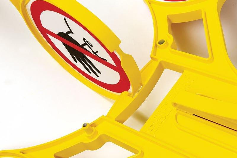 Cavalletto di segnalazione Seton 360 - Accesso vietato