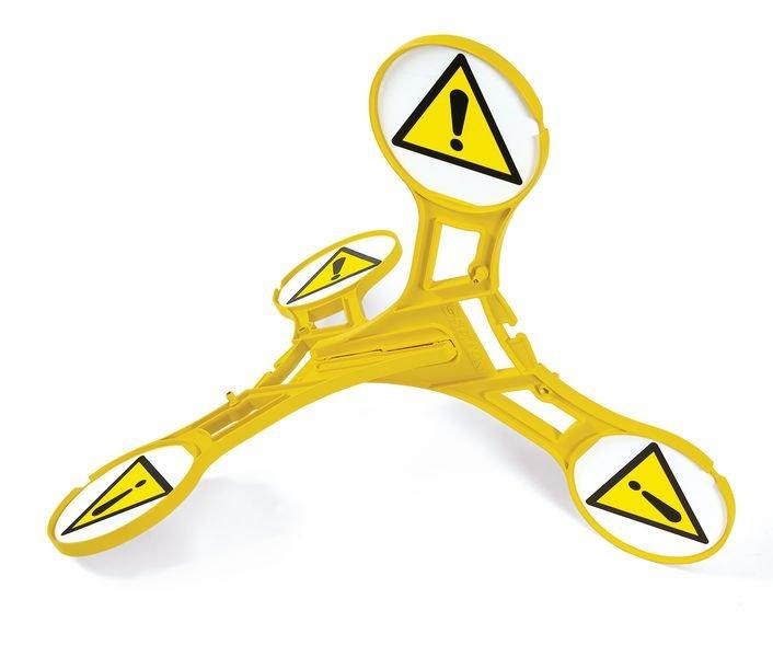 Cavalletto di segnalazione Seton 360 - Pericolo generico