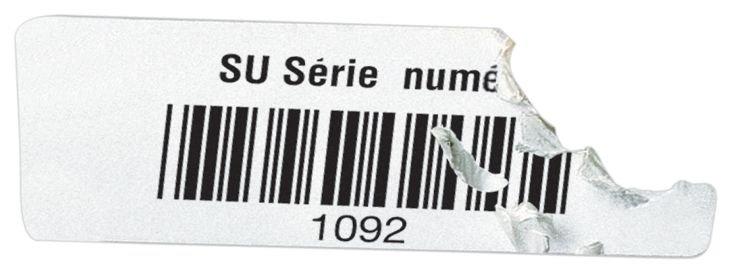 Etichette con codice a barre in vinile ultra-distruttibile - Seton