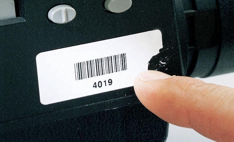 Etichette con codice a barre in vinile ultra-distruttibile - Etichette con codice a barre e/o numerazione personalizzate