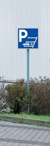 Cartello di parcheggio in retromarcia in PVC con simbolo - Seton