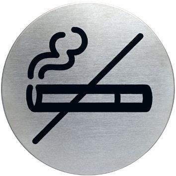 Cartello d'informazione design rotondo Vietato fumare