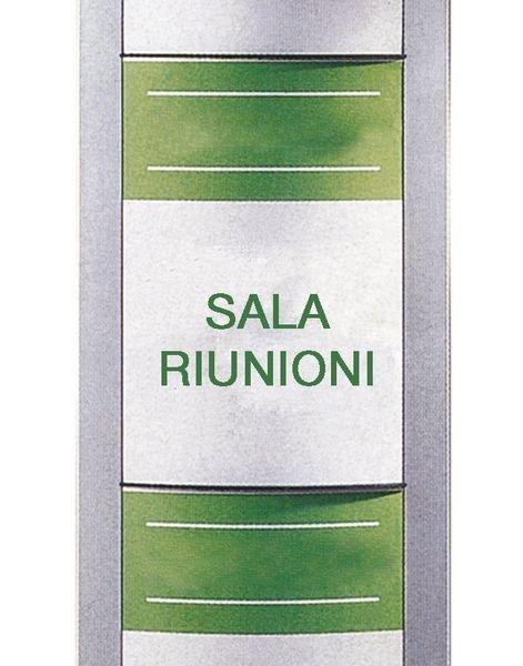 Totem pubblicitario per interni in alluminio per 8 documenti A3 - Seton