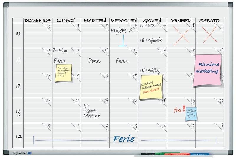 Planning settimanale magnetico per 5 persone