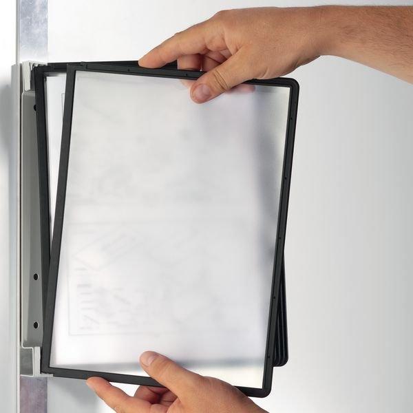 Leggio proteggi documenti magnetico a parete con buste A4 - Affissione e Protezione di documenti