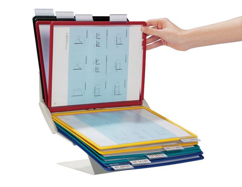 Leggio proteggi documenti multifunzione con buste A4 - Seton