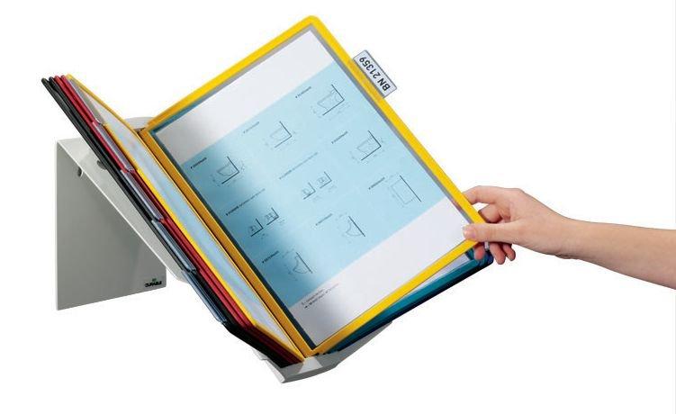 Leggio proteggi documenti multifunzione con buste A4 - Leggii da tavolo e da parete