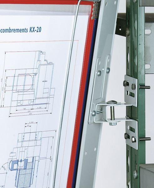 Supporto di fissaggio per proteggi documenti a parete o su scaffale - Leggii da tavolo e da parete