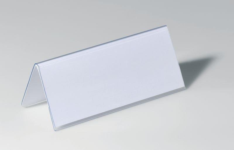 Portanome da tavolo in PVC rigido