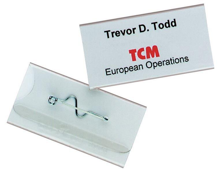 Badge per conferenza con clip o spilla