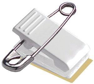 Clip per badge con pinza e spilla