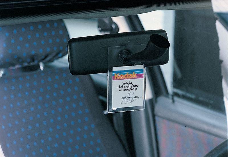 Portabadge per parcheggio in plastica trasparente - Seton