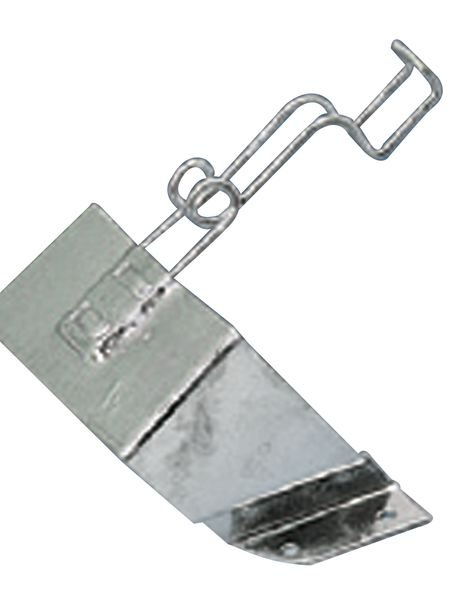 Supporto a parete per cuneo bloccaruote in acciaio