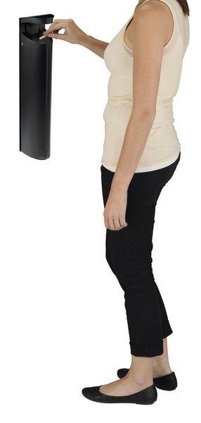 Posacenere a colonna a parete con protezione antipioggia - Posacenere e posacenere con cestino