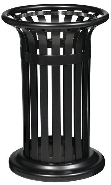 Cestini per esterni tondi in acciaio da 60 litri