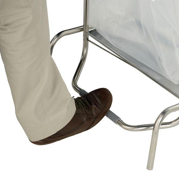 Supporto per sacchi della spazzatura con apertura a pedale e ruote - Seton
