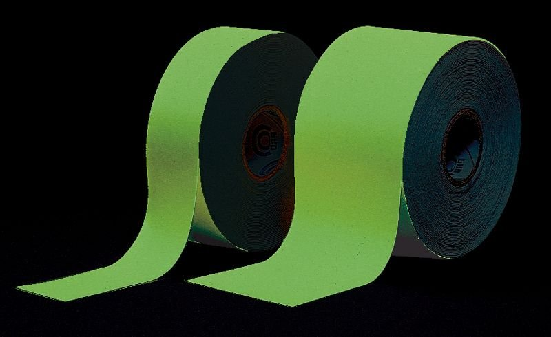 Segnaletica fotoluminescente tinta unita per porte e corridoi in rotolo