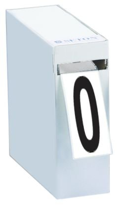 Cifre e lettere adesive in tessuto plastificato in scatola distributrice
