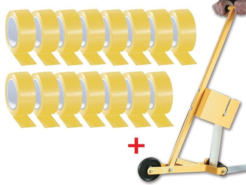 Kit da 15 rotoli di nastro in vinile per segnaletica orizzontale + 1 applicatore