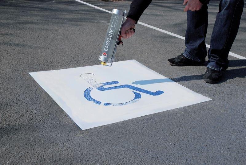 Kit di stencil e vernice Easyline® simbolo Disabili