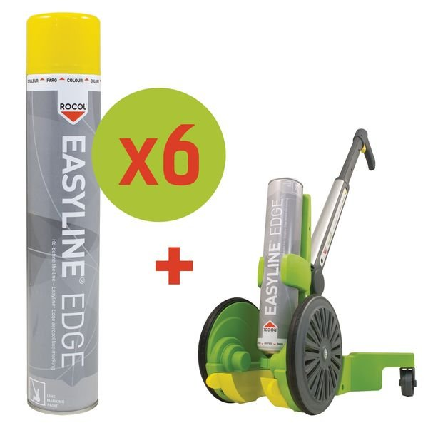 Kit base di 6 spray di vernice epossidica + 1 traccialinee Easyline®