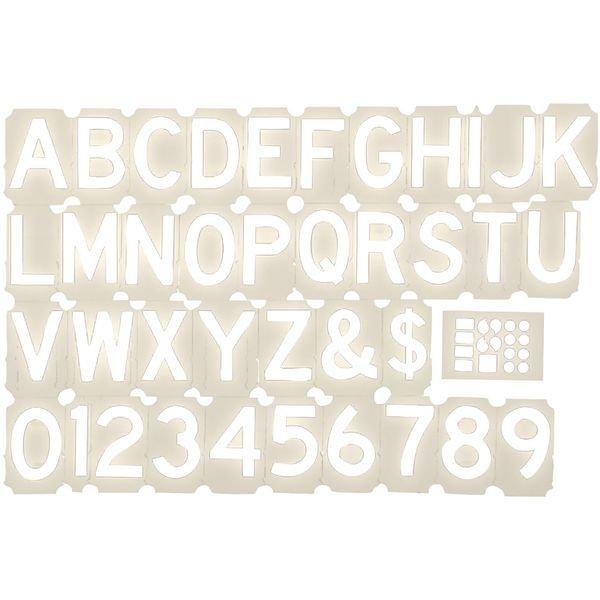 Valigetta di cifre e lettere pretagliate in vinile