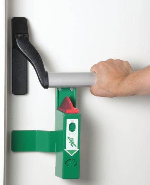Dispositivo di allarme per maniglione antipanico - Allarmi per porte, maniglie e uscite di emergenza