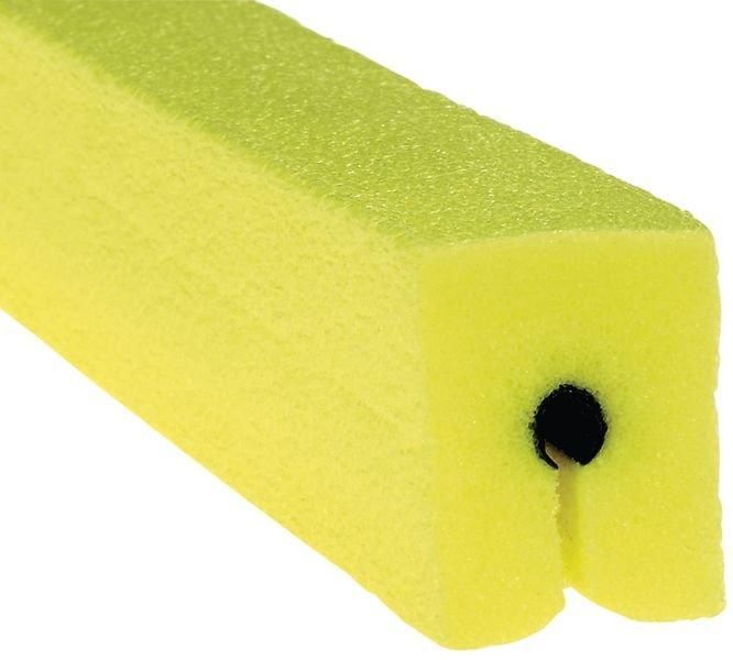 Profilo antiurto per bordi in schiuma di polietilene giallo
