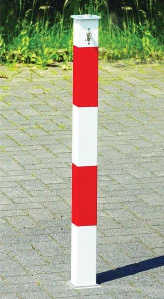 Paletto per parcheggio a scomparsa con bande riflettenti - Seton
