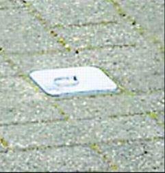 Paletto per parcheggio a scomparsa con bande riflettenti - Arredo urbano