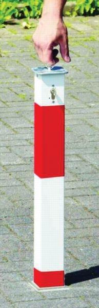 Paletto per parcheggio a scomparsa con bande riflettenti - Paletti stradali