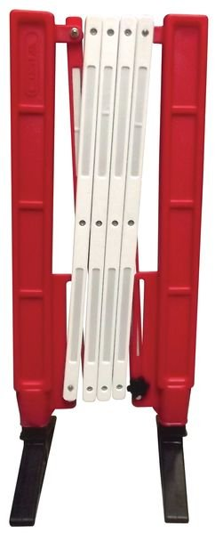 Barriera estensibile rossa e bianca - Recinzioni da cantiere