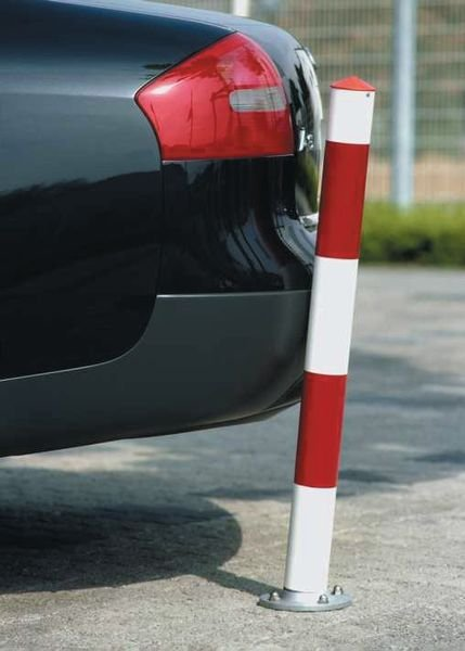 Paletto stradale flessibile di 30° con bande riflettenti