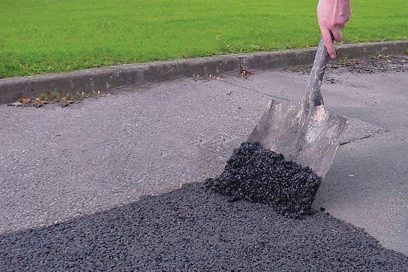 Kit da 3 fusti di asfalto a freddo e una mazzeranga - Seton