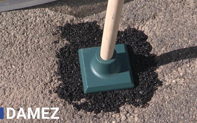 Kit da 3 fusti di asfalto a freddo e una mazzeranga