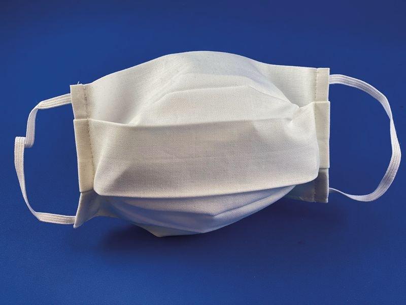 Maschere lavabili e riutilizzabili in tessuto bianco OEKO-TEX®