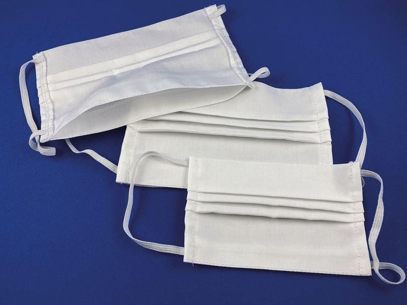 Maschere lavabili e riutilizzabili in tessuto bianco OEKO-TEX® - Seton