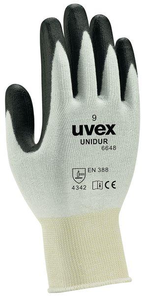 Guanti antitaglio di colore nero e bianco Uvex Unidur 6648