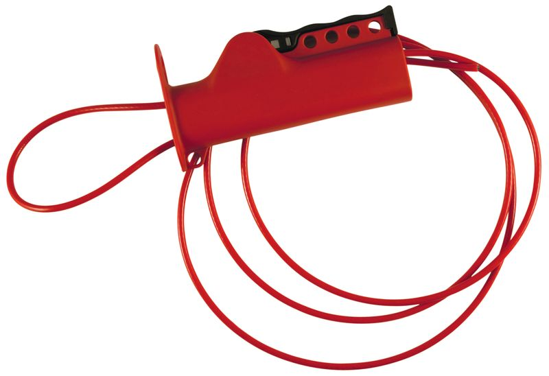 Sistema di bloccaggio a cavo per valvole, circuiti e interruttori
