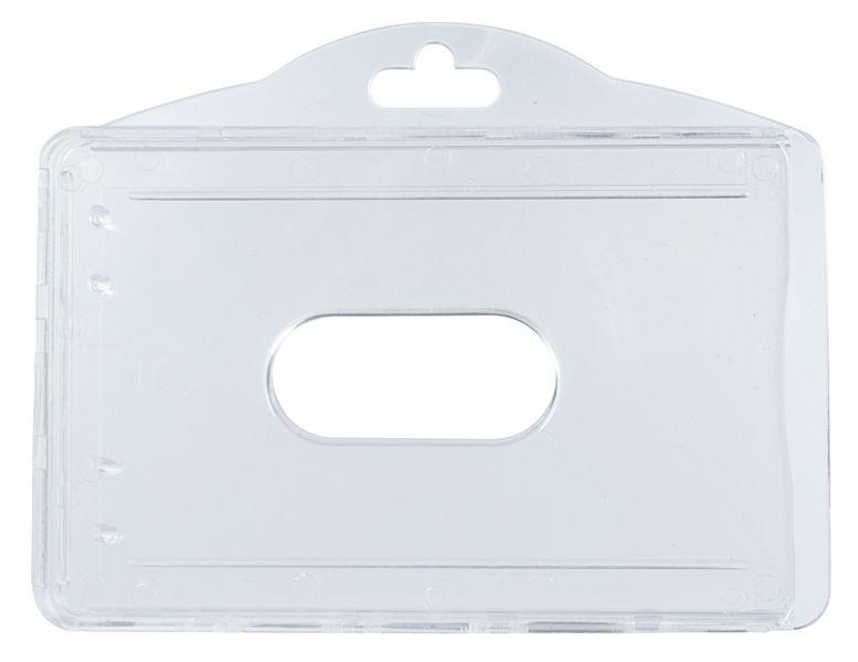 Portabadge doppio rigido in policarbonato rigido anti-raggi UV