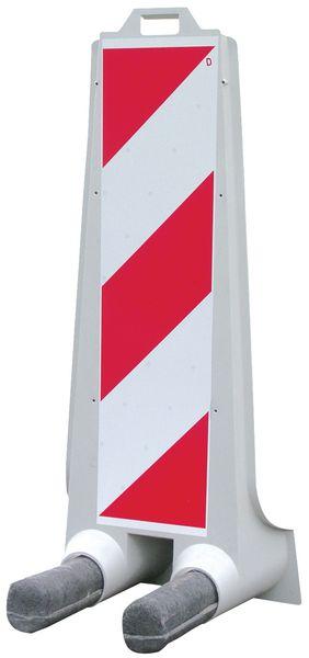 Segnaletica a 1 facciata con tratteggio rosso/bianco