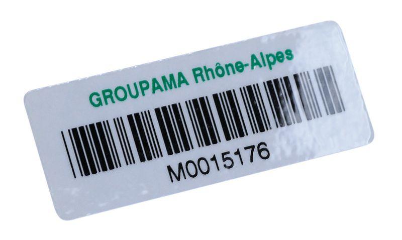 Etichette con codice a barre in carta laminata