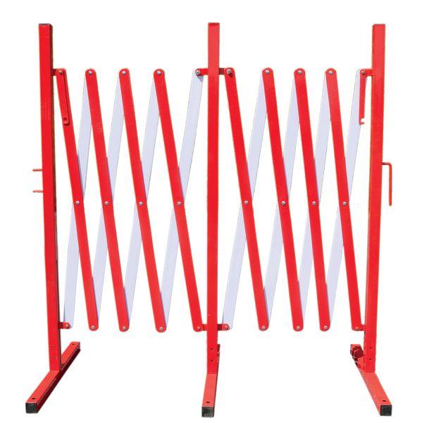 Barriera per cantieri estensibile in metallo grande lunghezza
