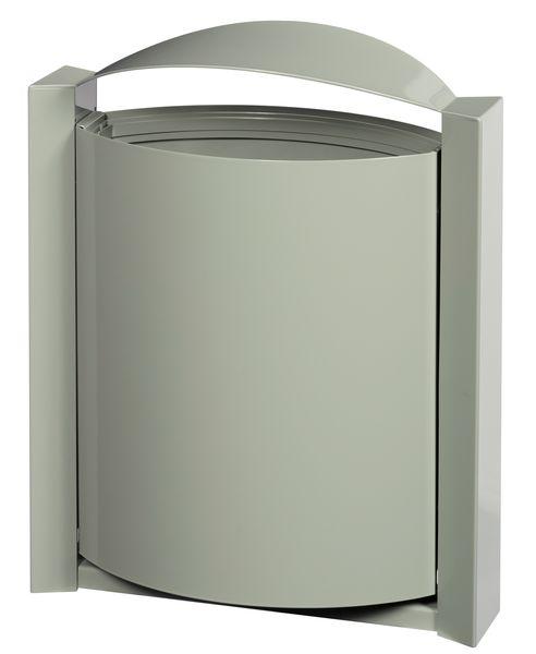 Cestino per esterni ovale in acciaio