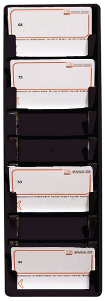 Supporto a parete in PVC colorato per badge ISO