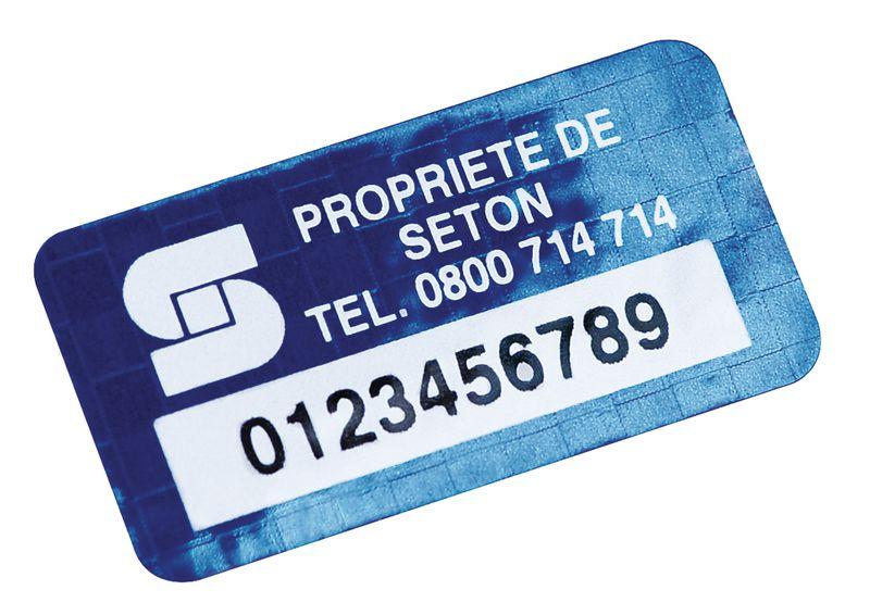 Etichette autoadesive a prova di manomissione DuraGuard® in poliestere metallizzato laminato