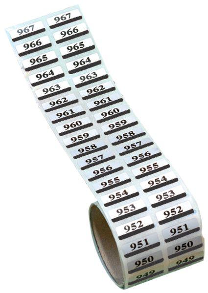 Etichette gemelle prenumerate in poliestere metallizzato