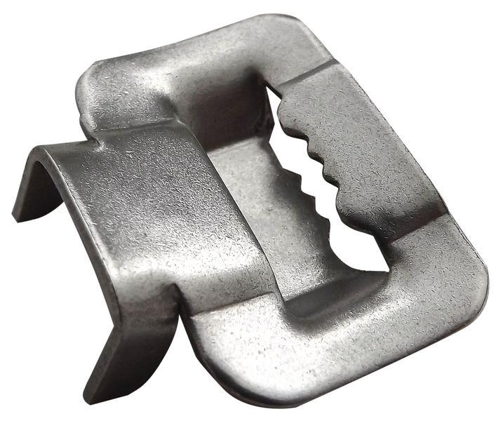 Staffe in acciaio inox ad alette per il fissaggio di cartelli