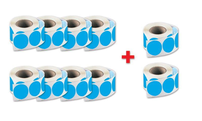 Kit da 8 rotoli di bollini + 2 gratuiti